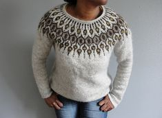 Ravelry: Project Gallery for Telja pattern by Jennifer Steingass Sweater Knitting Patterns, Free Knitting, Baby Knitting, Knitting Sweaters, Norwegian Knitting, Icelandic Sweaters, Knitting Projects, Handicraft, Ravelry