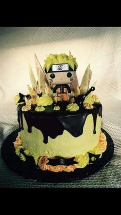 Cupcakes, Cupcake Cakes, Bolo Do Naruto, Naruto Party Ideas, Naruto Birthday, Anime Cake, Cool Cake Designs, Diy Cake, Cakes For Boys