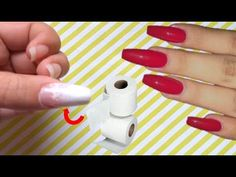 CÓMO HACER UÑAS POSTIZAS DE PAPEL HIGIÉNICO CASERAS - HOW TO MAKE FAKE NAILS OF PAPER - YouTube Fake Nails For Kids, Short Fake Nails, Fake Acrylic Nails, Acrylic Nail Designs, Fashion Hairstyles, Hairstyles 2018, Polygel Nails, Diy Nails, How To Make Diy