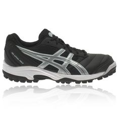 official photos 96b0b 04078 Asics Gel-Lethal Field Mujer Hockey Zapatillas Negro Plata Blanco vl5zv 1