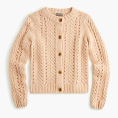 j crew point sur pointelle cardigan at DuckDuckGo Cardigan Au Crochet, Cardigan Bebe, Cardigan En Maille, Lace Cardigan, Cardigan Pattern, Cotton Cardigan, Pullover, Jackets, Knit Patterns