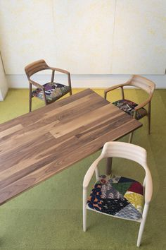 mina perhonen patchwork chairs