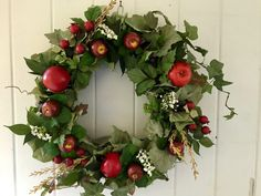 A personal favorite from my Etsy shop https://www.etsy.com/listing/551456585/fall-wreathapple-wreathfront-door