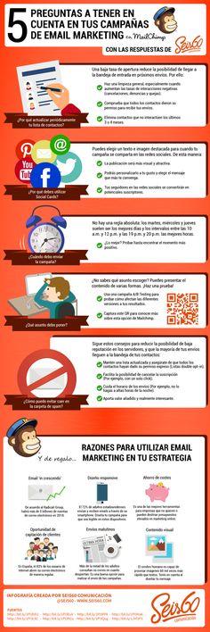 5 preguntas para tus campañas con MailChimp (y sus respuestas) #infografia #marketing
