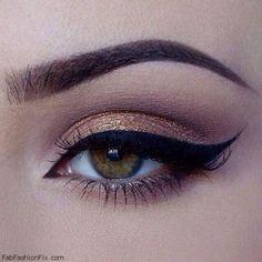 Perfectly winged black eyeliner. #eyeliner #makeup #winged