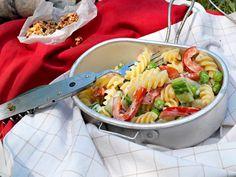 Vegetarischer Nudelsalat Vegetarian Pasta Salad, Cooking Recipes, Meat, Baking, Ethnic Recipes, Mayonnaise, Food, Stuffed Pasta, Chef Recipes