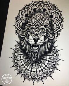 Estudando !!!! . . Arte disponível por valor especial. . Contato para orçamento e agendamento no tel 27 999805879 com bruno de segunda a sexta de 8 as 18 hs!!NAO RESPONDEMOS DIRECT. . #kadutattoo #tattoo #tattoos #tatuagem #tatuagens #drawing #sketch #mandala #mandalas #leão #lion #ipad #ipadpro #applepencil #procreateapp