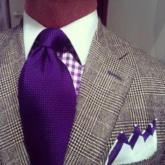 grenadine tie Mode Masculine, Sharp Dressed Man, Well Dressed Men, Dress Suits, Men Dress, Gentleman Style, Dapper Gentleman, Classy Men, Dapper Men