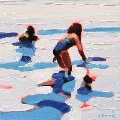 Modern Art Paintings, Indian Paintings, Oil Paintings, Landscape Paintings, Landscapes, Watercolor Paintings Abstract, Abstract Oil, Painting People, Figure Painting