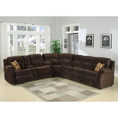AC Pacific Tracey Sectional This Sectional from AC Pacific has chocolate polyester upholstery.  Tracey SectionalThis living room furniture brings elegance