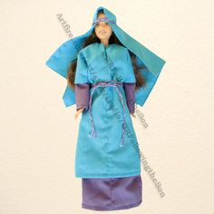 Mary Magdalene Turquoise Purple Dress Barbie Fashion Doll Outfit | WRFollowingtheSon