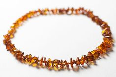 Baby Teething Necklace Polished Baltic Amber by LuxuryBalticAmber, $8.11