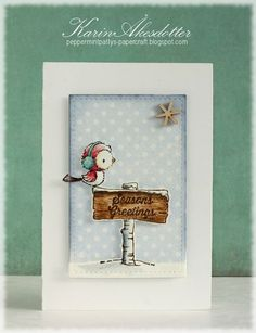 Stacey Yacula stamps for Purple Onion Designs- Silver & Winter Sign Card