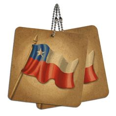 Vintage Chile Flag Wood MDF 4' x 4' Mini Signs Gift Tags * Find out more about the great product at the image link.
