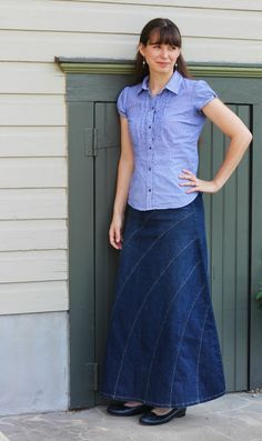 Deborah and Co Rainbow denim skirt