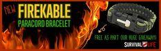 Free Paracord Bracelet - FireKable by Survival Life
