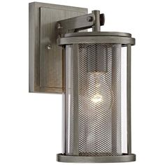 "Radian 12 1/2"" High Brushed Nickel Outdoor Wall Light"
