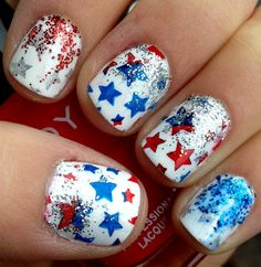By far best 4th of July nails