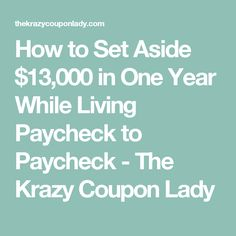 Putting money away while living paycheck to paycheck can feel legitimately impossible. But we also don't believe you need a six-figure salary to do it. To get started, try focusing on one extra str. Create A Budget, First Year, Money Matters, Finance Tips, Believe In You, Frugal, Saving Money, Coupon Lady, Budgeting