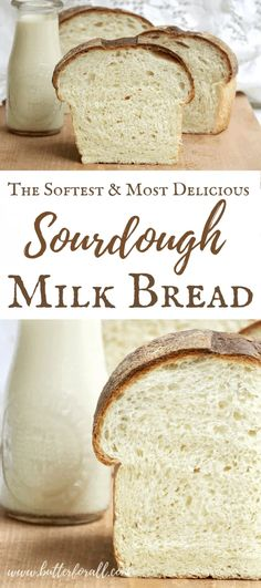 This soft and sweet Sourdough Milk Bread is made with orgnaic flour and sweetened with real raw honey for the perfect ba. Sourdough Starter Discard Recipe, Sourdough Recipes, Bread Recipes, Starter Recipes, Sourdough Sandwich Bread Recipe, Soft Sourdough Bread, Pain Au Levain, Saveur, Bread Baking