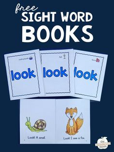 Print these four free books to help your students learn the sight word LOOK!