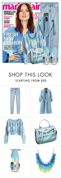 """""""Fresh color"""" by sally92 ❤ liked on Polyvore featuring Monki, Chicnova Fashion and Aquazzura"""