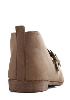 Off-Road to Success Bootie. For you the most satisfying journey is one where youve learned something. #tan #modcloth