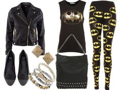 Batman clothes - Batman Clothing - Ideas of Batman Clothing - Batman clothes Batman Costumes, Batman Outfits, Emo Outfits, Cute Outfits, Fashion Outfits, Rock Outfits, Party Outfits, Nananana Batman, Punk Fashion
