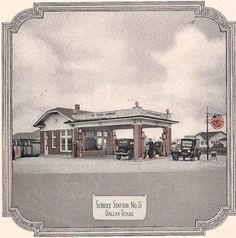 The Texas Company (No. known as Texaco, this service station photo is believed to be from Old Gas Stations, Loving Texas, Filling Station, Texas History, Texaco, Fort Worth, Old Pictures, Small Towns, American History