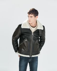 ZARA - NEW THIS WEEK - FAUX SHERLING-LINED JACKET