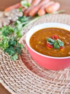 Indická polévka s batáty