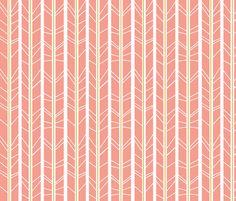 Blush Gold tree branch herringbone fabric by modfox on Spoonflower - custom fabric