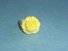 Yellow Blossom Adustable Ring, Summer Finger Fun | JanellDunlapJewelryDesigns - Jewelry on ArtFire