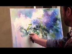 ПОЛНЫЙ урок И.Сахарова БЕСПЛАТНО Как рисовать сирень, цветы. Маслом Мастихином