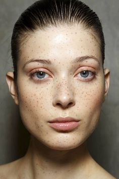 The latest beauty trend seems to be freckles...