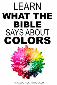The ultimate guide to the meaning of colors in the Bible. Have you ever wondered is there a deeper meaning to colors then just what psychological color meaning? You will find a deep rich spiritual meaning to colors when you read the Bible. Bible Topics, Bible Resources, Scripture Study, Bible Verses, Bible Quotes, Quotes Quotes, Scriptures, Christian Symbols, Christian Flag