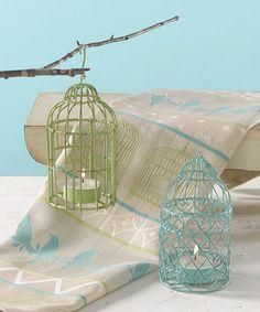 Love this Birdcage Tealight Holder Set on #zulily! #zulilyfinds