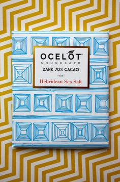 OCELOT organic chocolate brand... Ow, glorious graphics and colours!!