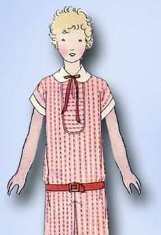 1920s Original Darlin Junior Flapper Dress Pattern Cute Style Notacopy | eBay