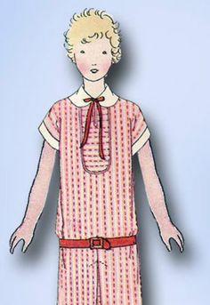 1920s Original Darlin Junior Flapper Dress Pattern Cute Style Notacopy | eBay