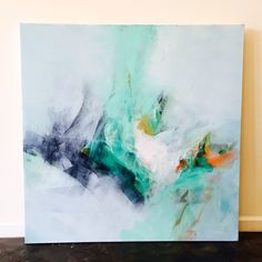 White Abstract painting by artist Brittany Lee Howard