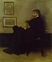James Abbott McNeill Whistler, Image Arrangement in Grey and Black, No. Portrait of Thomas Carlyle Oil on canvas, x cm; Glasgow Museum and Art Gallery Thomas Carlyle, James Abbott Mcneill Whistler, Glasgow Museum, Glasgow Uk, Free Art Prints, Aesthetic Movement, Impressionism Art, Oil Painting Reproductions, American Artists