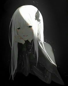 Chica Anime Manga, Kawaii Anime, Cute Goth Girl, Re Zero Wallpaper, Elfa, Echidna, Anime Screenshots, Best Waifu, Anime Eyes