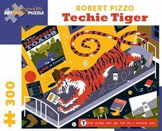 Robert Pizzo: Techie Tiger 300-piece Jigsaw Puzzle