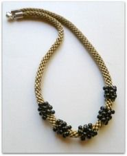 Kumihimo Cluster Bead Make it Yourself Necklace Kit $14.00  www.whatabraid.com