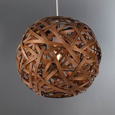 Crafted from woven bamboo this circular ceiling pendant requires a light bulb with a maximum power output of sixty watts. Ceiling Light Shades, Floor Lamp Shades, Ceiling Lights, Bamboo Ceiling, Bamboo Lamp, Teal Lamp Shade, Floral Lampshade, Bamboo Light, Candle Shades