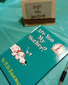 Baby shower dr. Suess theme  #pinterest#diy#babies#babyshower#theme#bird#dog#drsuesstheme#drsuess#boy#newborns#bundlesofjoy#parentstobe#momtobe#guestbook#books