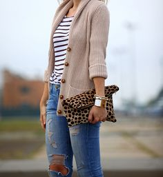 Mix of casual and statement accessory.
