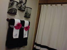 My towel decor :-) beautiful! | Decorating | Pinterest | Towels ...
