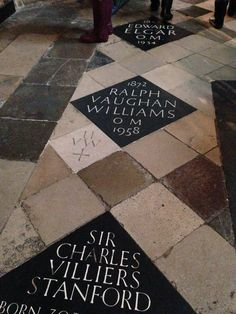 The resting places of four of the greatest English composers to ever live!